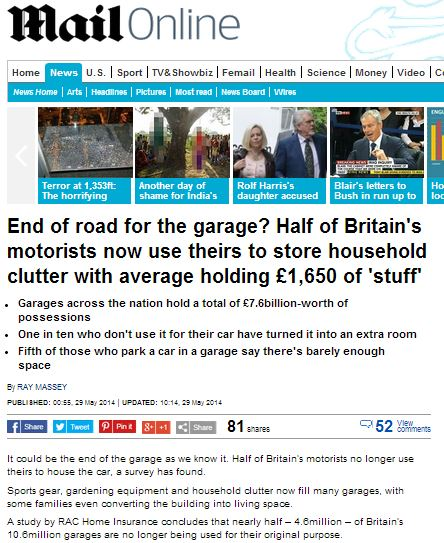"""People keep valuables in unsecured garages!"" says home insurer"